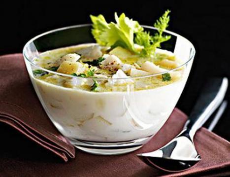 宝宝长牙餐—芹蔬排骨奶汤